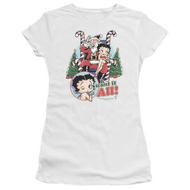 Betty Boop I Want It All Short Sleeve Junior Sheer T-Shirt