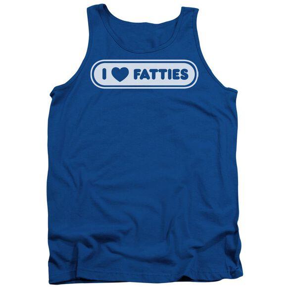 I Heart Fatties - Adult Tank - Royal Blue