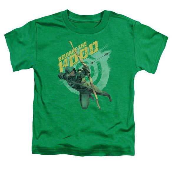 Arrow Beware Short Sleeve Toddler Tee Kelly Green T-Shirt