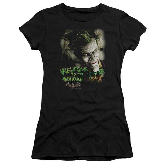 BATMAN AA WELCOME TO THE MADHOUSE - S/S JUNIOR SHEER - BLACK T-Shirt