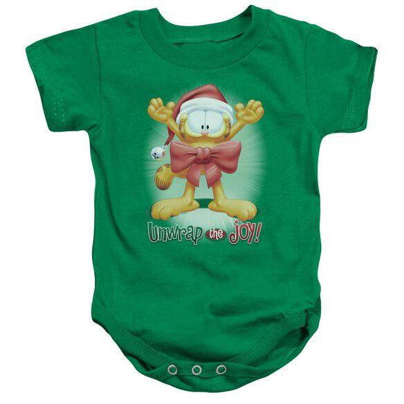 Garfield Unwrap The Joy!-infant Snapsuit-kelly