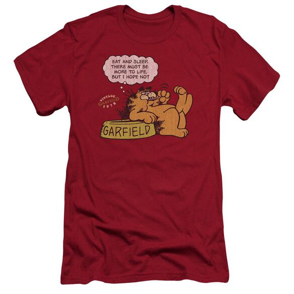 Garfield Eat And Sleep Premuim Canvas Adult Slim Fit