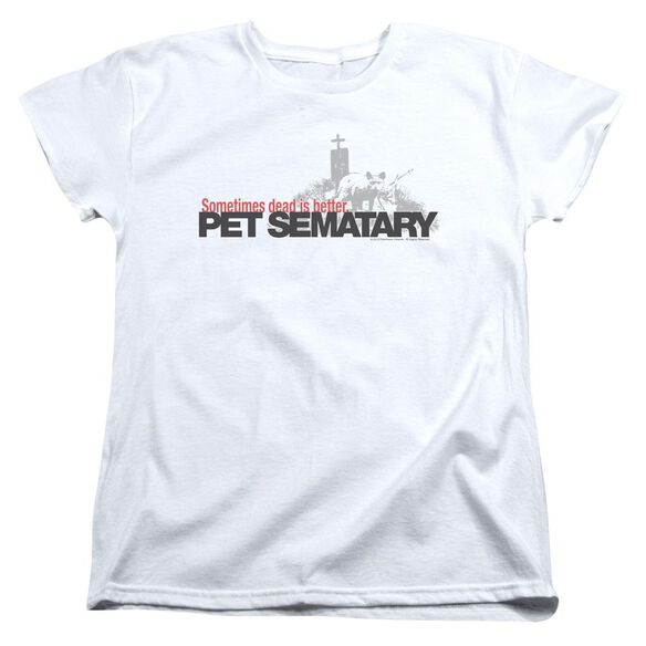Pet Sematary Logo Short Sleeve Womens Tee T-Shirt