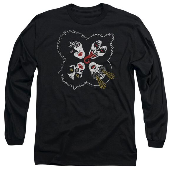 Kiss Rock And Roll Heads Long Sleeve Adult T-Shirt