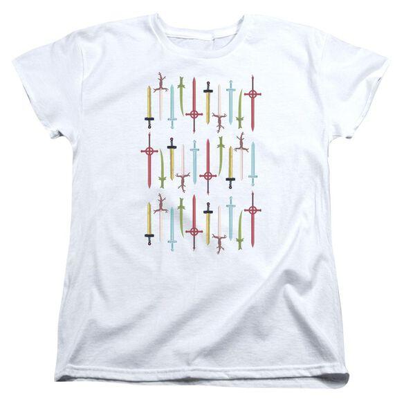 Adventure Time Swords Short Sleeve Womens Tee T-Shirt