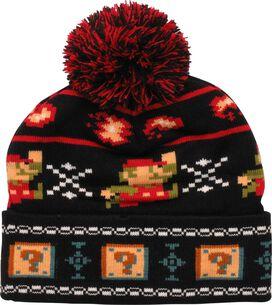 Super Mario 8-Bit Knit Cuff Pom Beanie