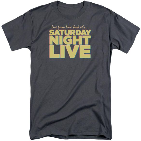 Snl Live From Ny Short Sleeve Adult Tall T-Shirt