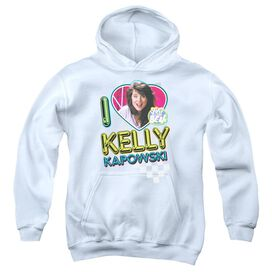 Saved By The Bell I Love Kelly Youth Pull Over Hoodie