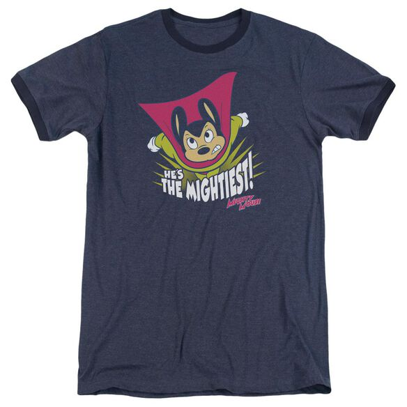 Mighty Mouse The Mightiest Adult Heather Ringer Navy
