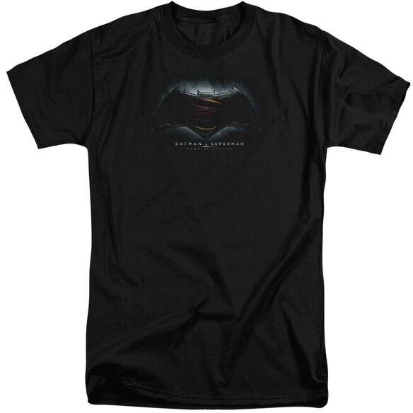 Batman Vs Superman Logo Short Sleeve Adult Tall T-Shirt