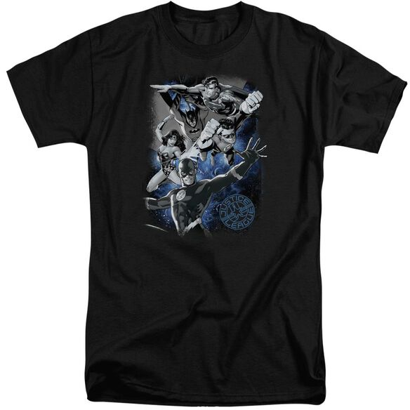 Jla Galactic Attack Nebula Short Sleeve Adult Tall T-Shirt