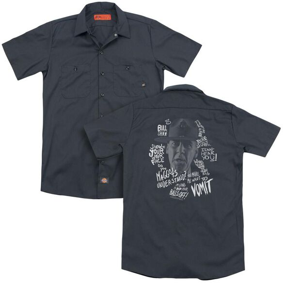 Full Metal Jacket Gunnery Quotes (Back Print) Adult Work Shirt