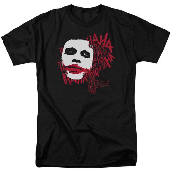Dark Knight Whats So Funny Short Sleeve Adult Black T-Shirt