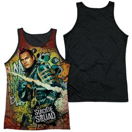 Suicide Squad Slipknot Psychedelic Cartoon Adult Poly Tank Top Black Back
