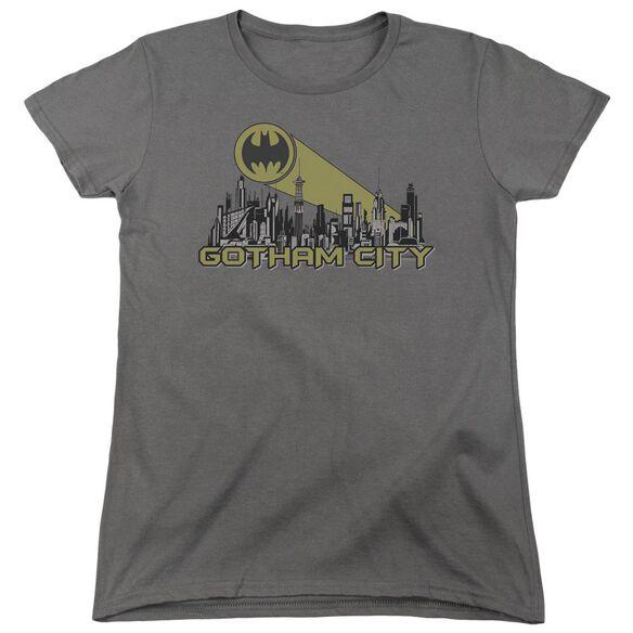 Batman Gotham Skyline Short Sleeve Womens Tee T-Shirt