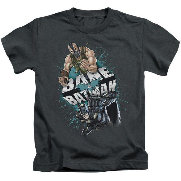 Dark Knight Rises Bane Vs Batman Short Sleeve Juvenile Charcoal Md T-Shirt