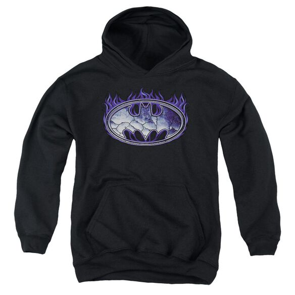 Batman Cracked Shield Youth Pull Over Hoodie