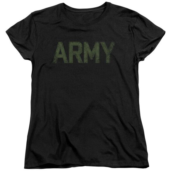 Army Type Short Sleeve Womens Tee T-Shirt