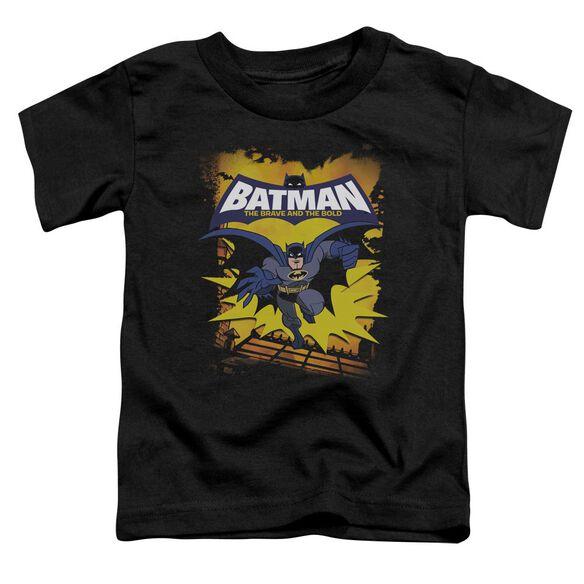 Batman Bb Rooftop Leap Short Sleeve Toddler Tee Black Lg T-Shirt