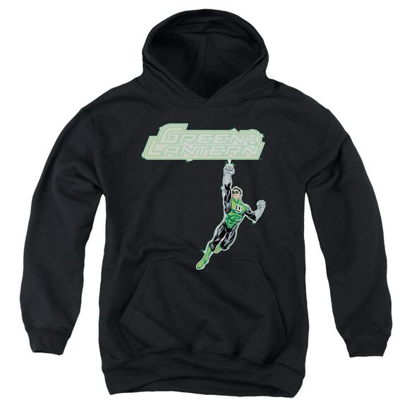 Green Lantern Energy Construct Logo Youth Pull Over Hoodie