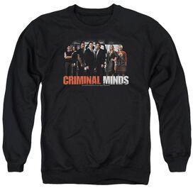 Criminal Minds The Brain Trust - Adult Crewneck Sweatshirt - Black
