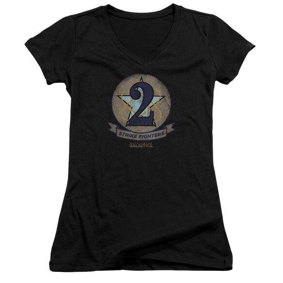 Bsg Strike Fighters Badge Junior V Neck T-Shirt