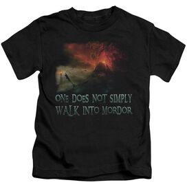 Lor Walk In Mordor Short Sleeve Juvenile Black T-Shirt