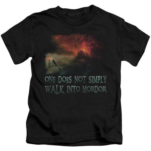 Lor Walk In Mordor Short Sleeve Juvenile Black T-Shirt