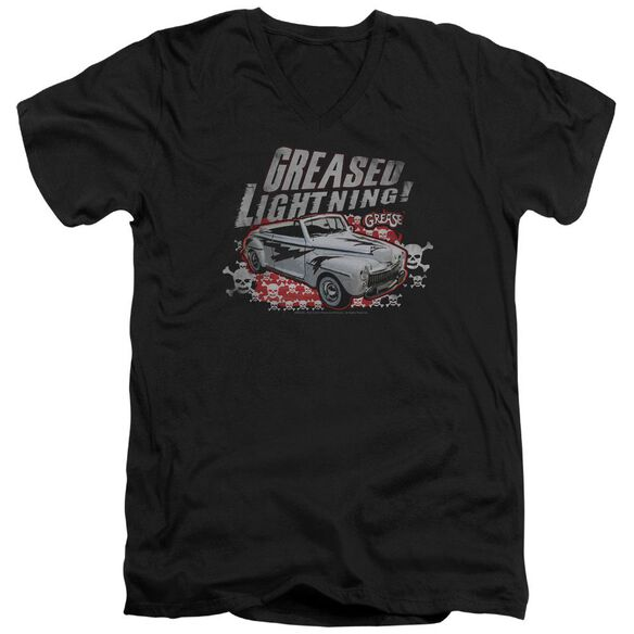 Grease Greased Lightening Short Sleeve Adult V Neck T-Shirt