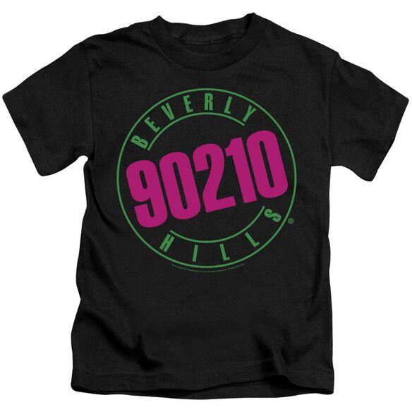 90210 Neon Short Sleeve Juvenile Black T-Shirt
