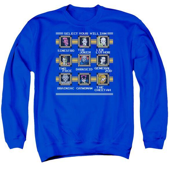 Dc Stage Select Adult Crewneck Sweatshirt Royal