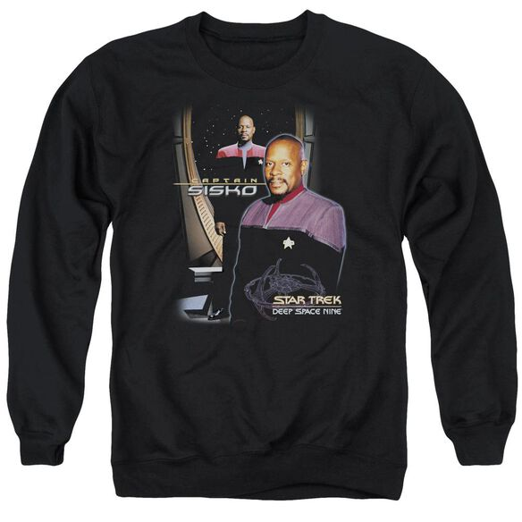 Star Trek Captain Sisko Adult Crewneck Sweatshirt