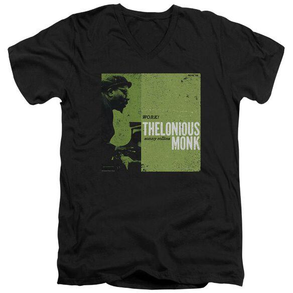 Thelonious Monk Work Short Sleeve Adult V Neck T-Shirt