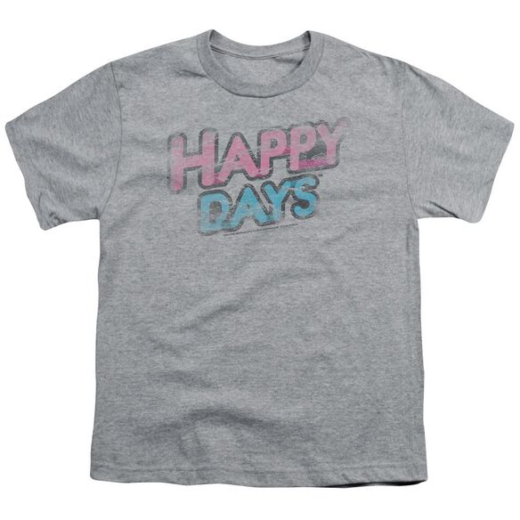 Happy Days Distressed Short Sleeve Youth T-Shirt