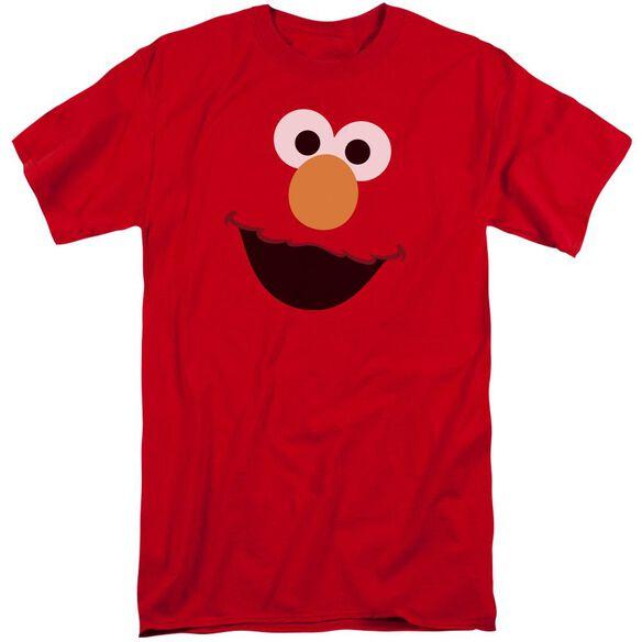 Sesame Street Elmo Face Short Sleeve Adult Tall T-Shirt