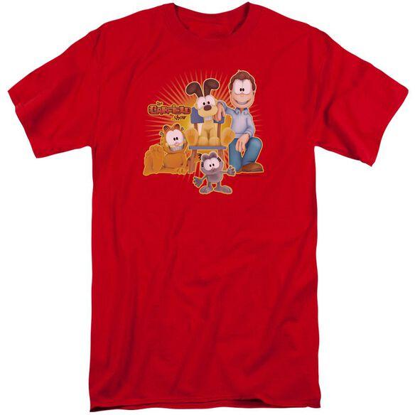 Garfield Say Cheese Short Sleeve Adult Tall T-Shirt