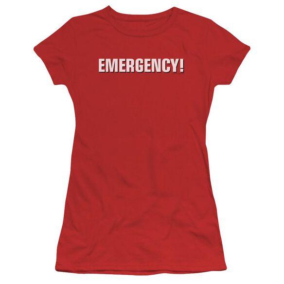 Emergency Logo Short Sleeve Junior Sheer T-Shirt