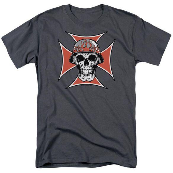 Iron Cross Skull Short Sleeve Adult T-Shirt