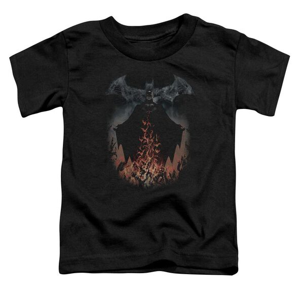 Batman Smoke & Fire Short Sleeve Toddler Tee Black T-Shirt