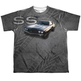 Chevrolet Muscle Chevelle Ss Short Sleeve Youth Poly Crew T-Shirt