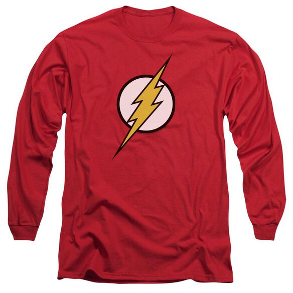 Jla Flash Logo Long Sleeve Adult T-Shirt