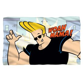 Johnny Bravo Woah Mama Fleece Blanket