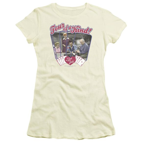 I Love Lucy Four Of A Kind Short Sleeve Junior Sheer T-Shirt