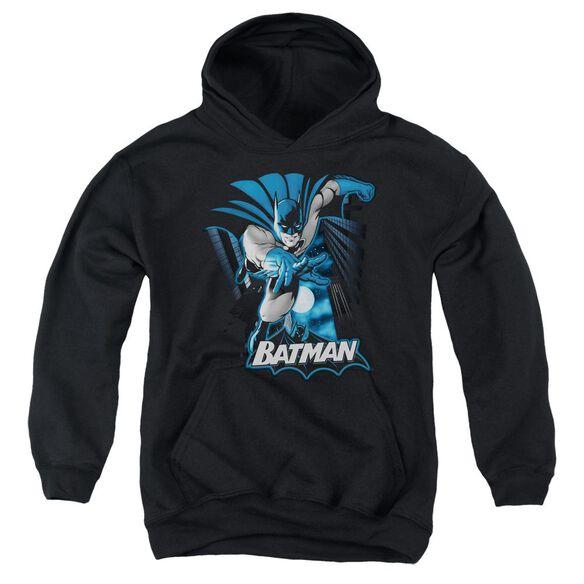 Jla Batman Blue & Gray Youth Pull Over Hoodie