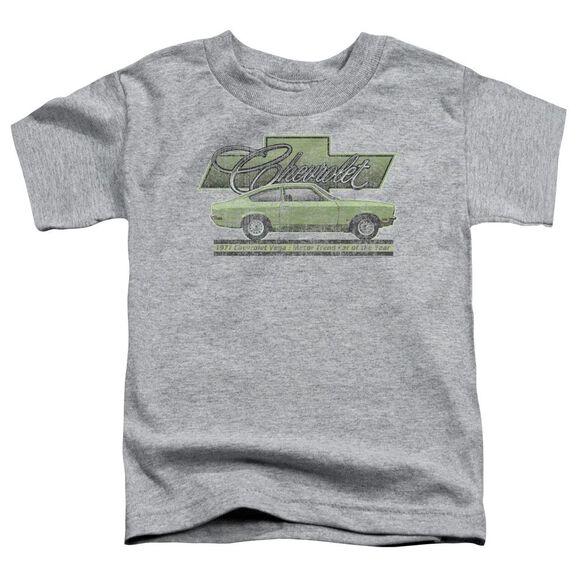 Chevrolet Vega Car Of The Year 71 Short Sleeve Toddler Tee Athletic Heather T-Shirt
