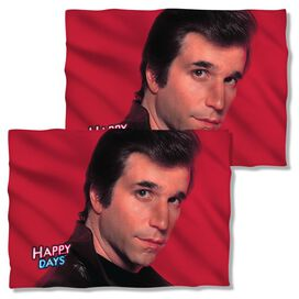 Happy Days Red Fonz (Front Back Print) Pillow Case White