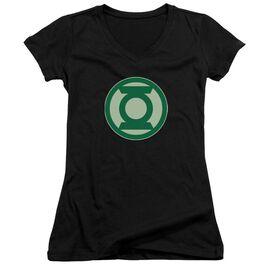 Green Lantern Green Symbol Junior V Neck T-Shirt
