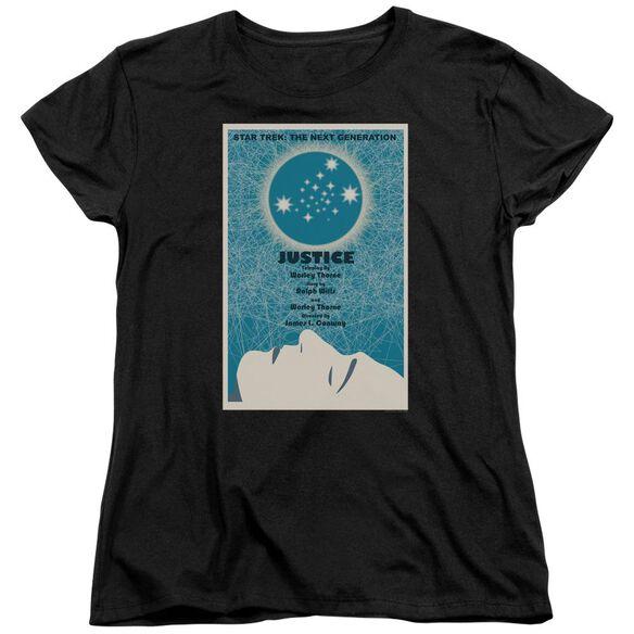 Star Trek Tng Season 1 Episode 8 Short Sleeve Womens Tee T-Shirt