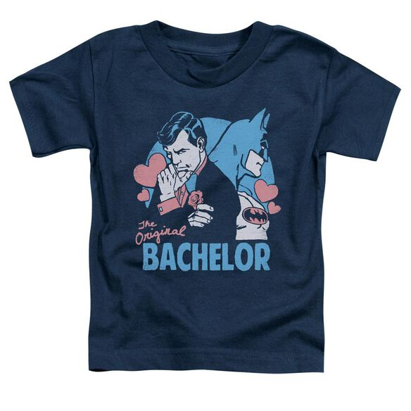 Dc Bachelor Short Sleeve Toddler Tee Navy Sm T-Shirt