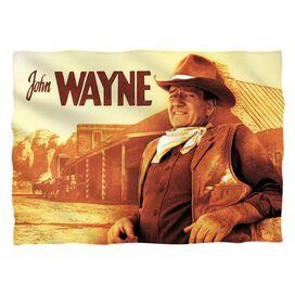 John Wayne Old West Pillow Case White